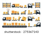 cargo and delivery  shipping... | Shutterstock .eps vector #275367143