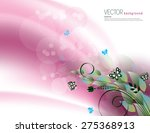 Pink Background With Bright...