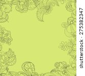 irish lace with light yellow... | Shutterstock .eps vector #275382347