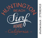 surf typographic for t shirt... | Shutterstock .eps vector #275382413