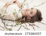 fashion photo of sexy girl with ... | Shutterstock . vector #275384357