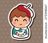 person character painter theme... | Shutterstock .eps vector #275398067