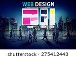 web design network website...   Shutterstock . vector #275412443