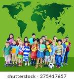 global globalization world map... | Shutterstock . vector #275417657