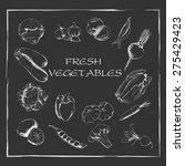 set of vegetables drawn in... | Shutterstock .eps vector #275429423