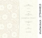 vintage card with damask... | Shutterstock .eps vector #275444813