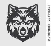 wolf head logo mascot emblem | Shutterstock .eps vector #275446637