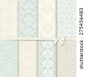collection of 8 seamless damask ...   Shutterstock .eps vector #275456483