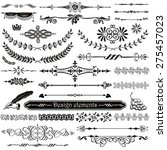 set of decorative design... | Shutterstock .eps vector #275457023