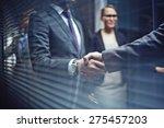 close up of businessmen... | Shutterstock . vector #275457203