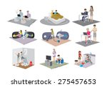 different family situations in... | Shutterstock .eps vector #275457653