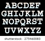 vector font with bulbs. | Shutterstock .eps vector #275460083