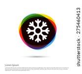 snowflake icon  white pictogram ... | Shutterstock .eps vector #275460413