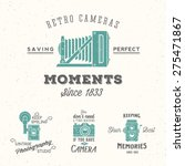 retro camera photography set.... | Shutterstock .eps vector #275471867