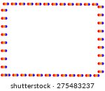 stylized border pattern and... | Shutterstock . vector #275483237