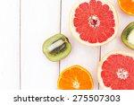 Set Of Sliced Grapefruit ...