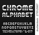 chrome alphabet vector font.... | Shutterstock .eps vector #275515007
