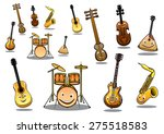 large collection of musical... | Shutterstock . vector #275518583