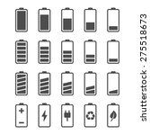 battery vector icon set with... | Shutterstock .eps vector #275518673