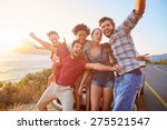 group of friends standing by... | Shutterstock . vector #275521547