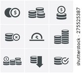 Coins Icons Set  Vector Design...