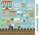 supermarket online website... | Shutterstock .eps vector #275528237