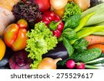 fresh fruits and vegetables | Shutterstock . vector #275529617