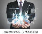 businessman with financial... | Shutterstock . vector #275531123