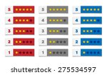 rating stars in various colors | Shutterstock .eps vector #275534597