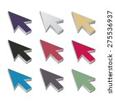 set of multicolored 3d cursor... | Shutterstock .eps vector #275536937
