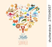 summer concept. elements...   Shutterstock .eps vector #275549057