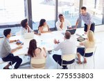 businessman presenting to... | Shutterstock . vector #275553803
