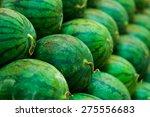 Fresh Watermelons On Shelves I...