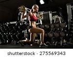 beautiful girl bodybuilder   ... | Shutterstock . vector #275569343
