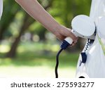 electric vehicle charging   Shutterstock . vector #275593277