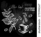 vector chalk coffee on... | Shutterstock .eps vector #275598167