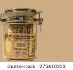 indian currency notes of rupee... | Shutterstock . vector #275610323