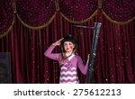 cute young girl wearing a... | Shutterstock . vector #275612213