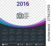 calendar 2016 vector design...   Shutterstock .eps vector #275612933