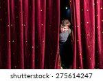anxious young boy actor in his... | Shutterstock . vector #275614247