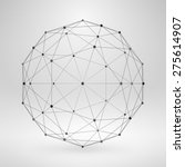 Wireframe Polygonal Element. 3...