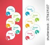 vector business process steps... | Shutterstock .eps vector #275619107