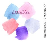 set of soft pastel watercolor... | Shutterstock .eps vector #275620277