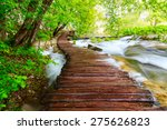 wooden path in national park in ... | Shutterstock . vector #275626823