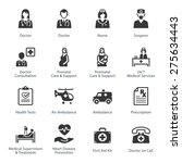 medical   health care icons set ... | Shutterstock .eps vector #275634443