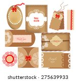 collection of vintage cards ... | Shutterstock .eps vector #275639933