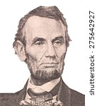 Small photo of Portrait of U.S. president Abraham Lincoln