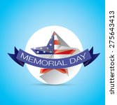memorial day with star in... | Shutterstock .eps vector #275643413