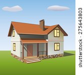 the  house with the stone base...   Shutterstock .eps vector #275643803