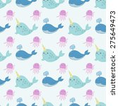 Cute Funny Seamless Pattern...